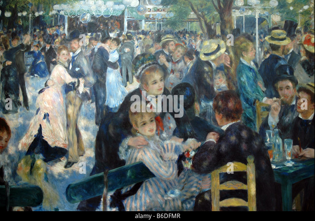 Renoir painting stock photos renoir painting stock for Auguste renoir paris
