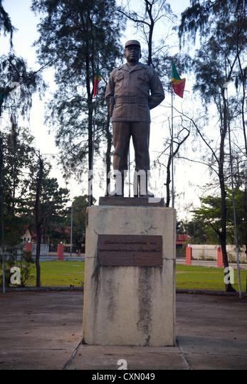 Statue of Marien Ngouabi, Brazzaville, Republic of Congo, Africa - Stock-Bilder