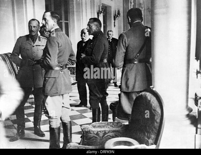Sir Douglas Haig, Georges Clemenceau and others - Stock Image