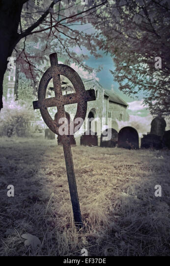 iron burial cross - Stock Image
