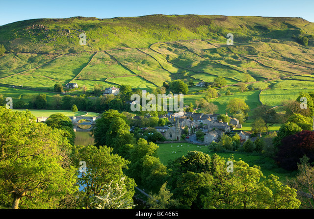 Burnsall, Yorkshire Dales, North Yorkshire, England - Stock-Bilder