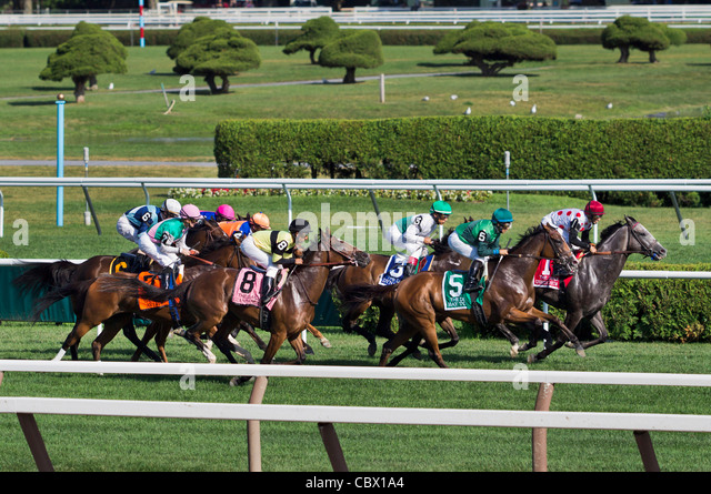 SARATOGA RACE TRACK SARATOGA SPRINGS NEW YORK - Stock Image