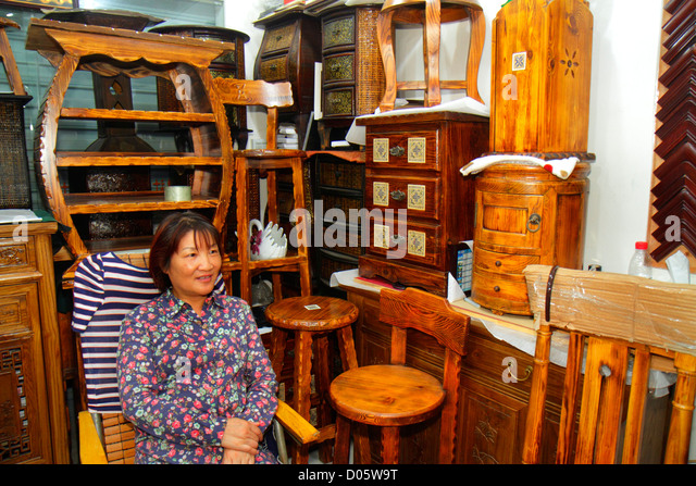 Shanghai China Huangpu District Yuyuan Garden Fuyou Road shopping market marketplace display for sale small business - Stock Image