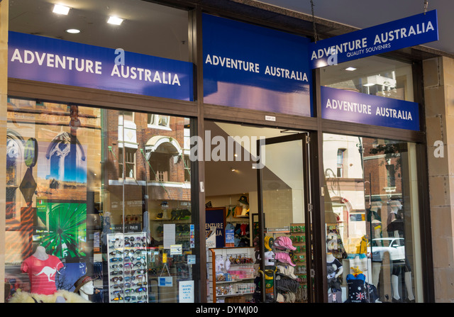 Australia NSW New South Wales Sydney The Rocks George Street historic district shopping Adventure Australia souvenirs - Stock Image