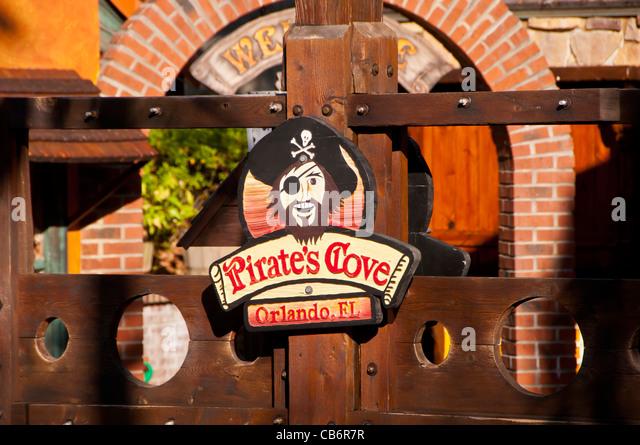 Orlando, Florida, Pirate's Cove Mini Golf  tourist attraction on International Drive - Stock Image