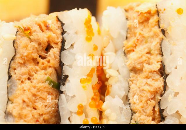 Sushi Sandwich snake Assortment close up. - Stock Image