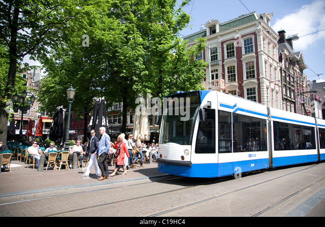 Leidseplein Square Amsterdam Netherlands Stock Photos