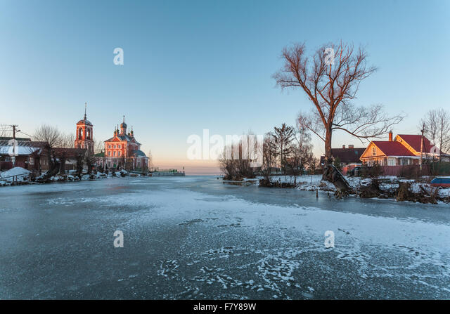 Pereslavl-Zalessky, Russia - November 29, 2015: Sorokosvyatsky church, of Forty martyrs Sevastiysky  1775 year. - Stock-Bilder