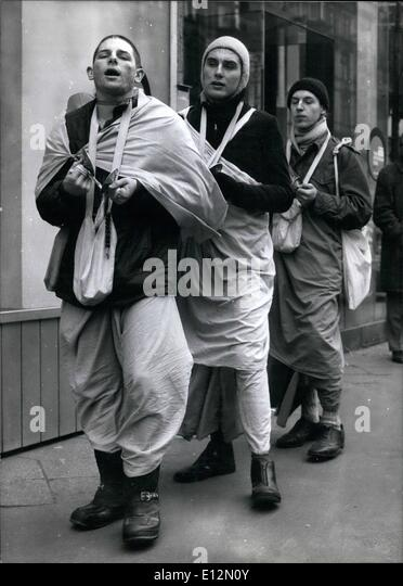 Feb. 24, 2012 - KRISHNA-PEOPLE IN FRANKFURT ''Hare Kriehna'' a group of us...ally dreseed young - Stock Image