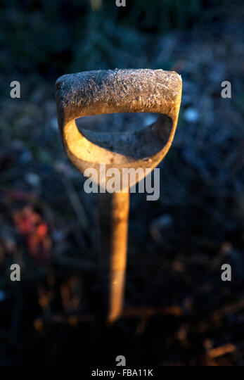 Sweden, Frosted handle of work tool - Stock Image