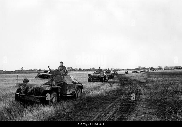 German armored car at Kalinin, 1941 - Stock Image