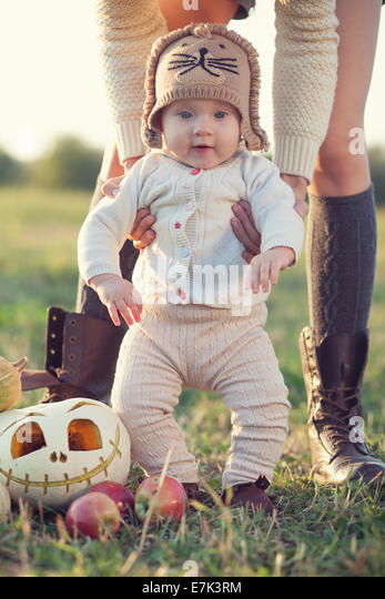 Stylish baby fall look - Stock Image