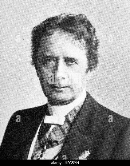 Friedrich Haase, 1827 - 1911, was a prominent German actor and theatre director, reproduction photo from the year - Stock Image