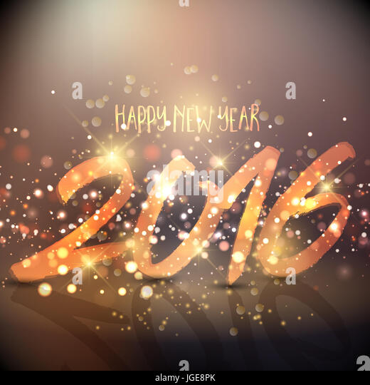 Sparkly background design for the Happy New Year - Stock Image