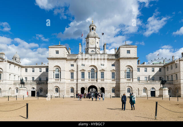 Horse Guards building from Horse Guards Parade, Westminster, London, England, UK - Stock Image