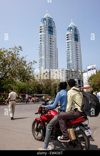 India Indian Asian Mumbai Tardeo Jehangir Boman Behram Road architect Hafeez Contractor tallest building The Imperial - Stock Image