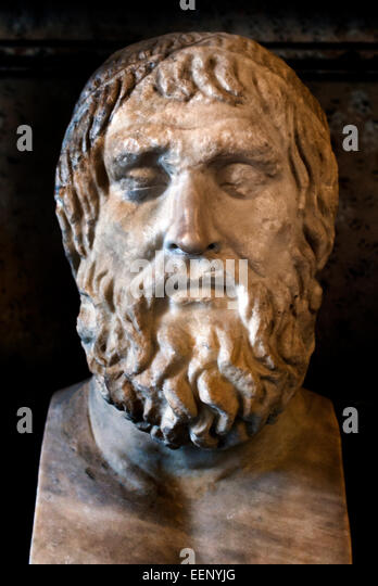 Sophocles 497/496 BC 406/405 BC (aged 90) Tragedy ancient Greek tragedians Roman Rome Capitoline Museum Italy Italian - Stock Image