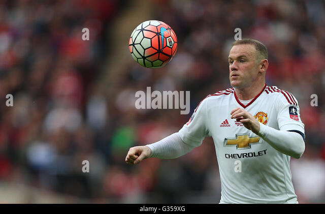 Wayne Rooney of Manchester United in action during the Emirates FA Cup Final between Crystal Palace and Manchester - Stock-Bilder