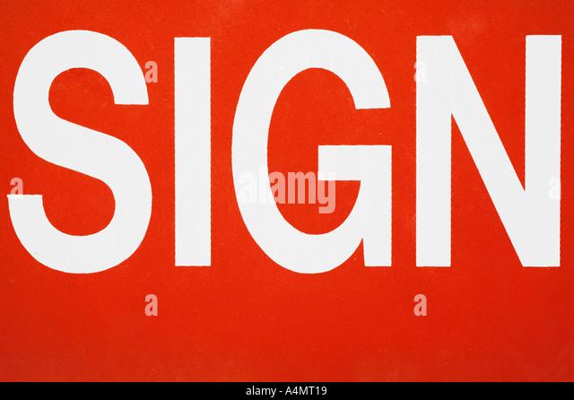 Urban Type Sign - Stock Image