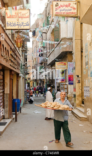 street scene in cairo old town egypt - Stock Image