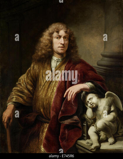 Self-portrait - by Ferdinand Bol, 1669 - Stock Image