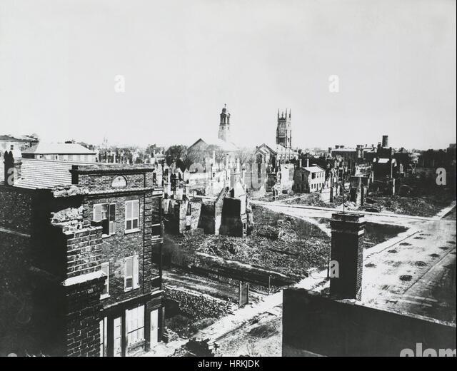 Civil War Ruins, Charleston, SC - Stock Image