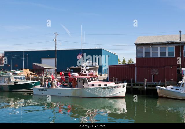 Portland maine lobster stock photos portland maine for Portland maine fishing charters