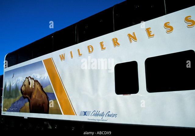 Alaska Wilderness Express train car - Stock Image