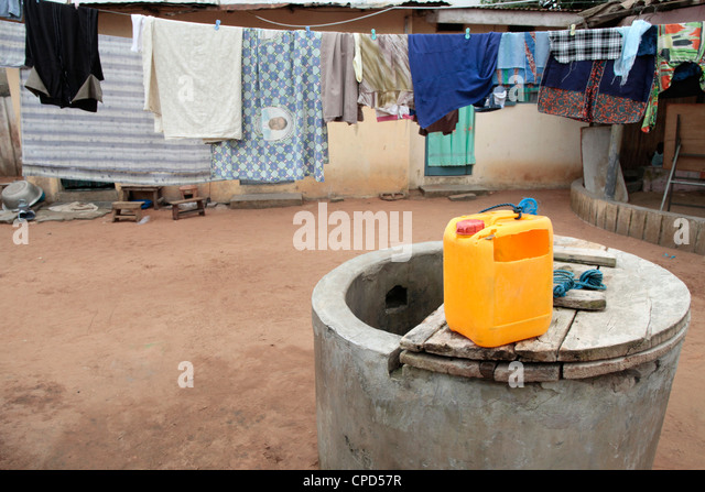 Water well in Africa, Lome, Togo, West Africa, Africa - Stock Image