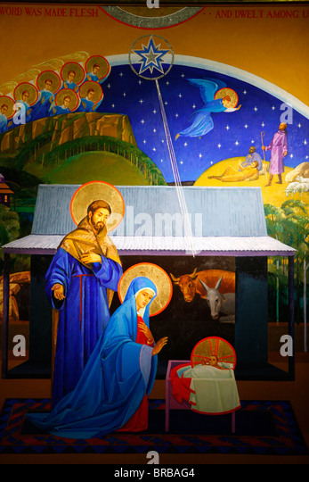 Nativity, Christ Church St Laurence, Sydney, New South Wales, Australia - Stock Image