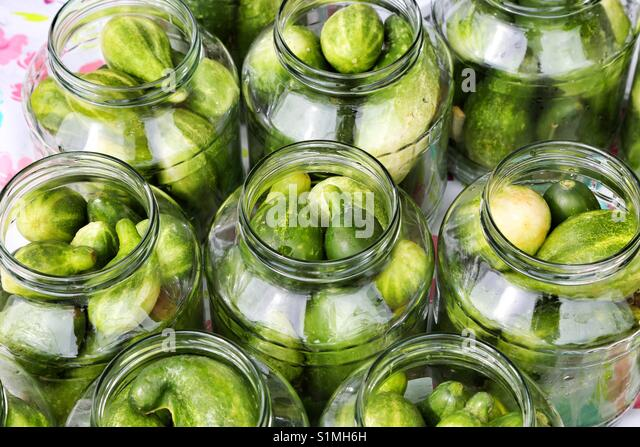 Pickled cucumbers - Stock Image