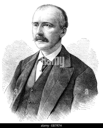 Heinrich Schliemann, 1822 - 1890, a German businessman and a pioneer of field archaeology, Johann Ludwig Heinrich - Stock Image