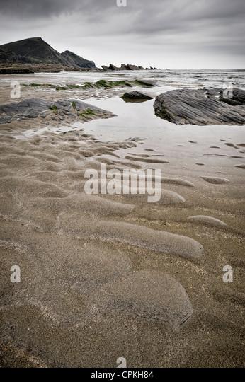 Crackington Haven on the North Cornwall coast - Stock Image