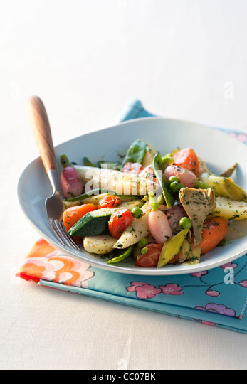 cooking Vegetable with Cumin - Stock Image
