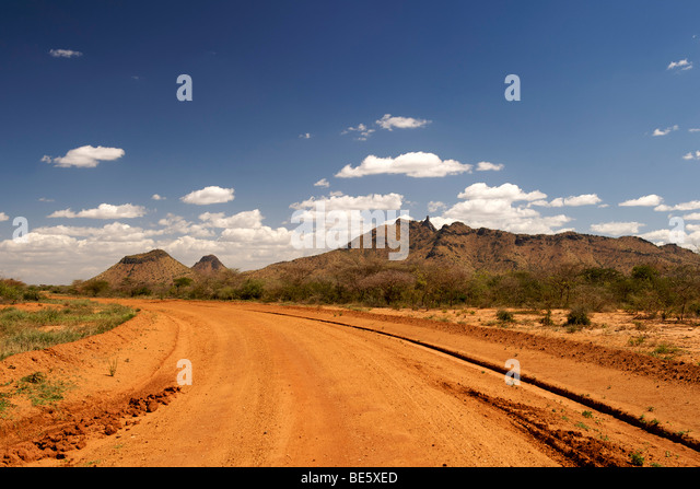 Mount Torror (1945m) south of the village of Kotido in northeast Uganda. - Stock-Bilder
