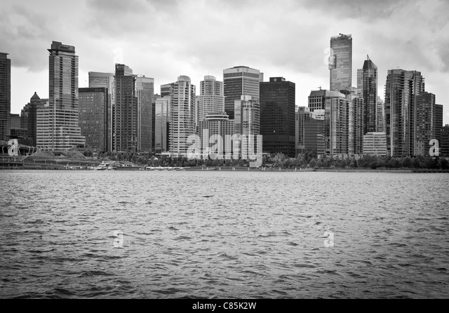 Dramatic Vancouver waterfront - Stock Image