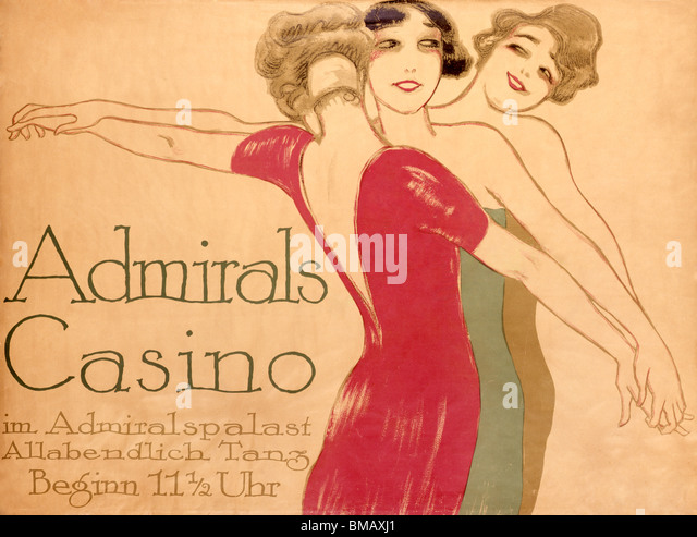 Admirals Casino, poster by Hollerbaum & Schmidt. Germany, 20th century - Stock Image