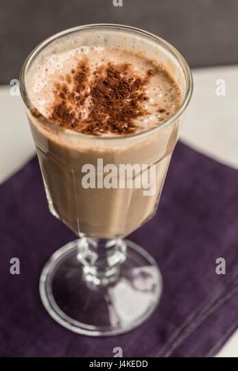 banana Chocolate Milk Shake - Stock Image