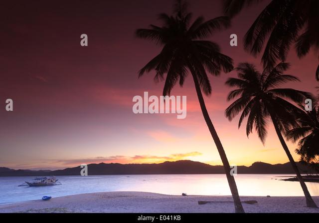 Philippines, Palawan, Linapacan Group, Daracoton Island - Stock-Bilder