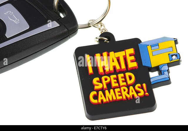 I Hate Speed Cameras Key Fob - Stock Image