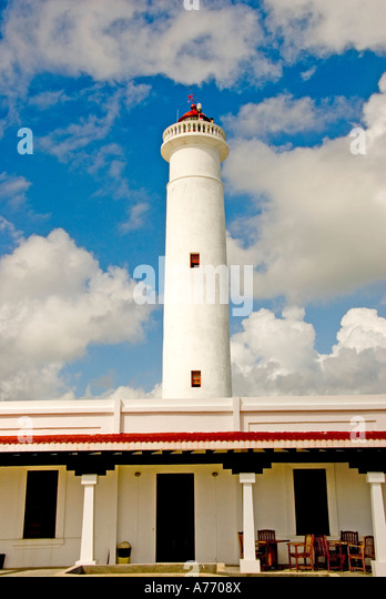 Mexico Cozumel Punta Sur Celarain Cozumel southern Lighthouse - Stock Image