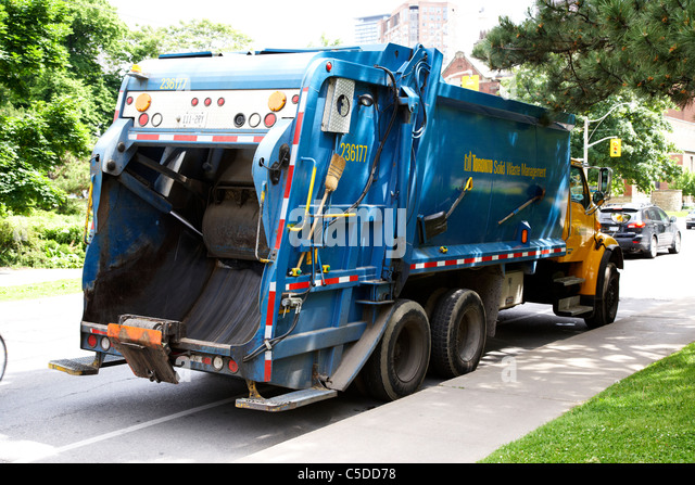city of toronto solid waste management refuse garbage lorry ontario canada - Stock Image