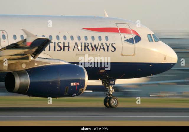 British Airways Airbus A320 at London Heathrow Airport - Stock Image