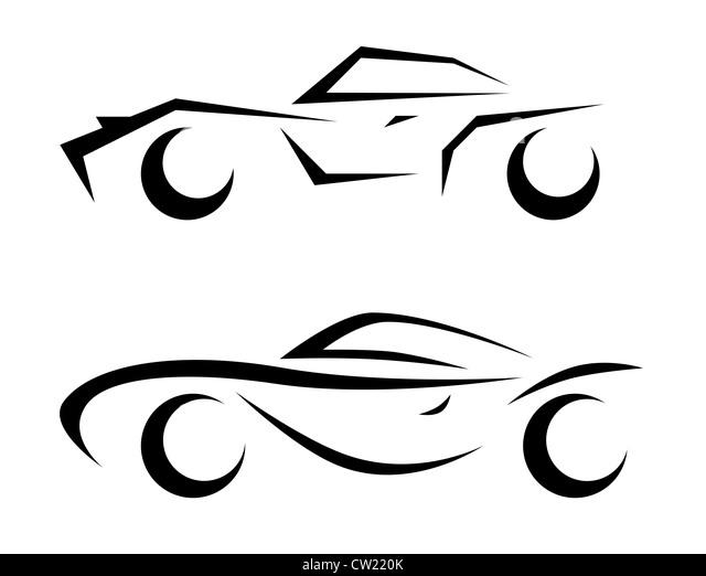 cartoon car black and white stock photos  u0026 images