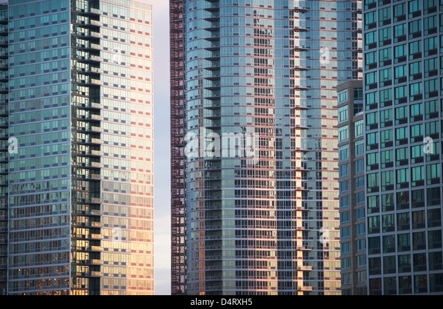 Windows of urban skyscrapers - Stock Image