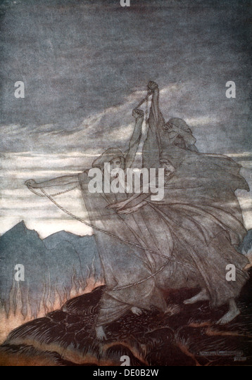 'The Norns vanish', 1924.  Artist: Arthur Rackham - Stock Image