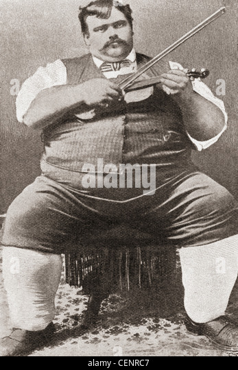 Gay Jewel, 1863 - ? nicknamed Jumbo, was the heaviest man alive in 1899 weighing 53 st. 6lb. and measuring 6ft. - Stock-Bilder