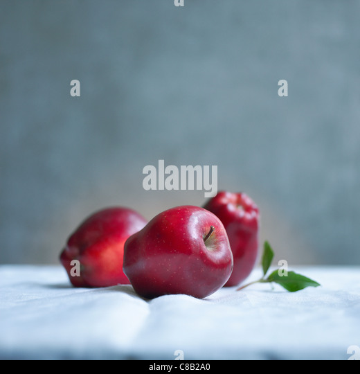 Red Delicious apples - Stock Image