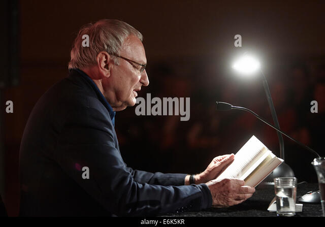 Reading by Uwe Timm at the 'Ganz Ohr' literature festival in the Electoral Palace, Koblenz, Rhineland-Palatinate, - Stock Image