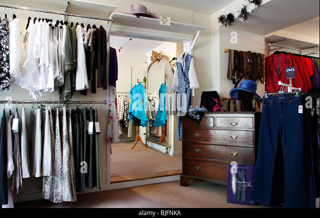 fashionable clothing store interior stock photos. Black Bedroom Furniture Sets. Home Design Ideas